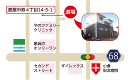 錬心舘 鹿屋東部支部 地図